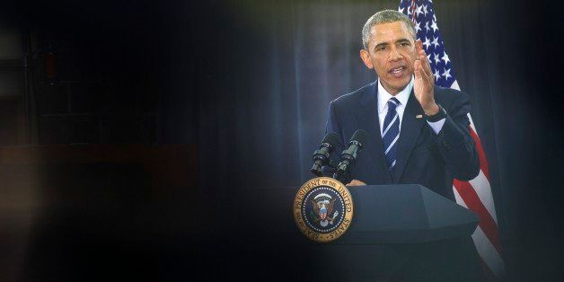 CAMDEN, NJ - MAY 18:   U.S. President Barack Obama delivers a speech at the Salvation Army, Ray & Joan Kroc Corps Community C
