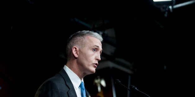 WASHINGTON, DC - MARCH 03:  Chairman Trey Gowdy (R-SC) of the House Select Committee on Benghazi speaks to reporters at a pre