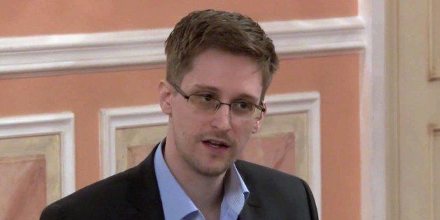 In this image made from video released by WikiLeaks on Friday, Oct. 11, 2013, former National Security Agency systems analyst