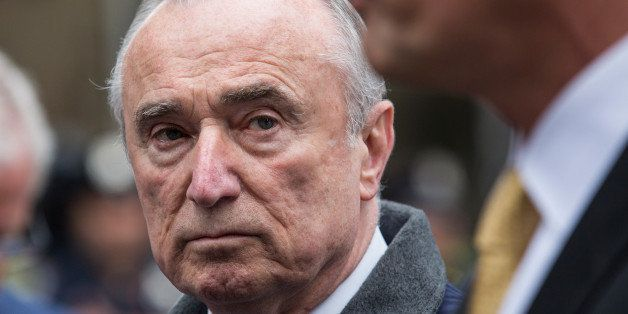 NEW YORK, NY - MAY 13: New York Police Department Commissioner Bill Bratton speaks at a press briefing after a hammer-wieldin