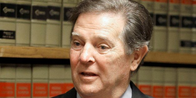 Former U.S. House Majority Leader Tom DeLay speaks with media Wednesday, Oct. 1, 2014, in Houston after the highest criminal