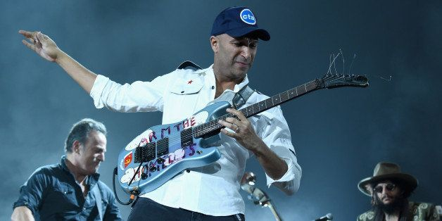 LOS ANGELES, CA - FEBRUARY 06:  Guitarist Tom Morello performs onstage at the 25th anniversary MusiCares 2015 Person Of The Y