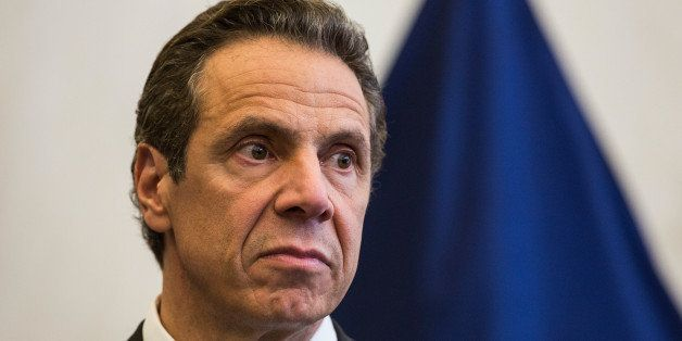 NEW YORK, NY - SEPTEMBER 15:  New York Governor Andrew Cuomo attends a press conference after a bi-state meeting on security