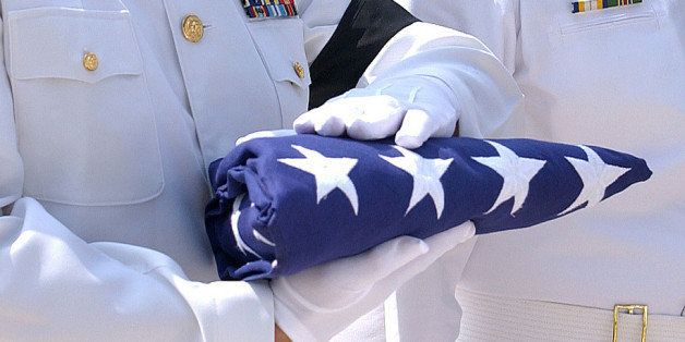 The flag is folded and is presented to next of kin,<i> &quot;As a representative of the United States Army, it is my high pri