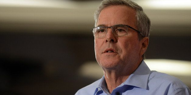 NASHUA, NH - APRIL 17: Former Florida Gov. Jeb Bush speaks at the First in the Nation Republican Leadership Summit April 17,