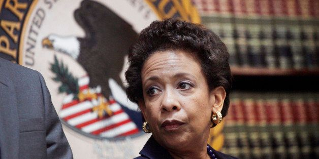 Attorney General Loretta E. Lynch announces an indictment against nine FIFA officials and five corporate executives for racke