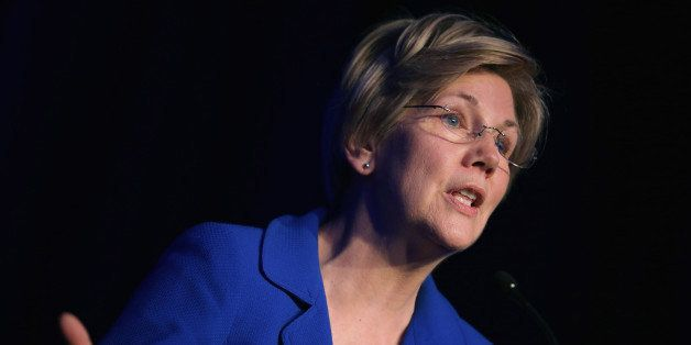 WASHINGTON, DC - APRIL 13:  Sen. Elizabeth Warren (D-MA) delivers remarks during the Good Jobs Green Jobs National Conference