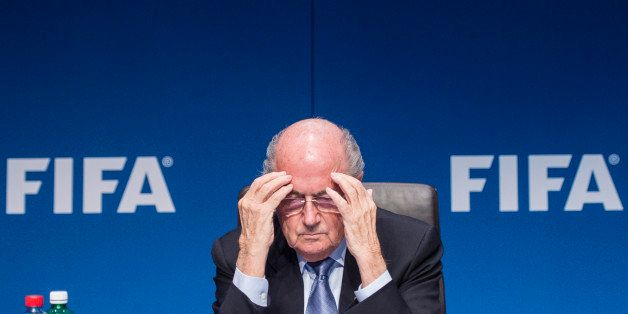 FIFA President Joseph Blatter s attends a news conference  following the FIFA Executive Committee meeting in Zurich, Switzerl