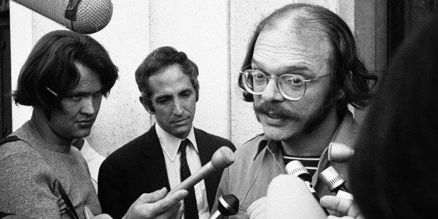 Anthony J. Russo Jr., as associate of Daniel Ellsberg, leaves a Los Angeles federal courthouse on Oct. 1, 1971 after the cour