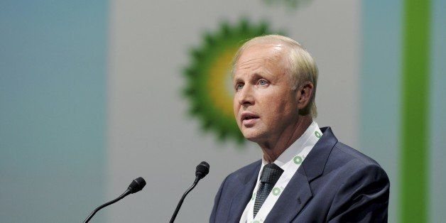 British energy giant BP CEO Bob Dudley addresses a keynote speech during the World Gas Conference in Paris on June 2, 2015. A