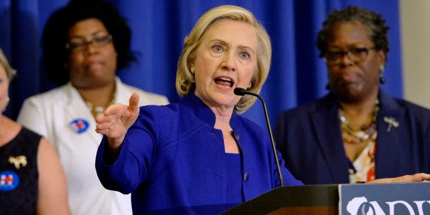 Democratic presidential candidate, former Secretary of State Hillary Rodham Clinton speaks to South Carolina House Democratic