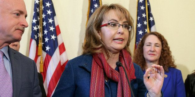 WASHINGTON, DC - MARCH 04:  Former Congresswoman and handgun violence survivor Gabby Giffords speaks during a news conference