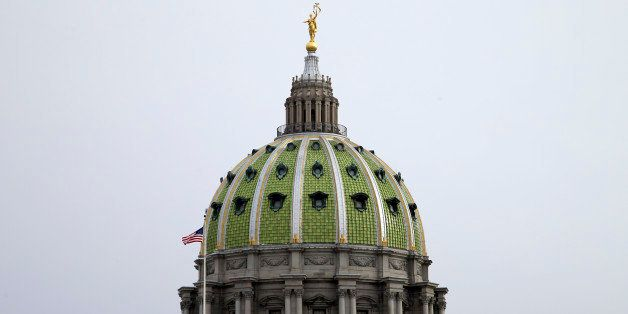 Shown is the Pennsylvania Capitol building on Tuesday, March 3, 2015, in Harrisburg, Pa. Gov. Tom Wolf is scheduled to delive