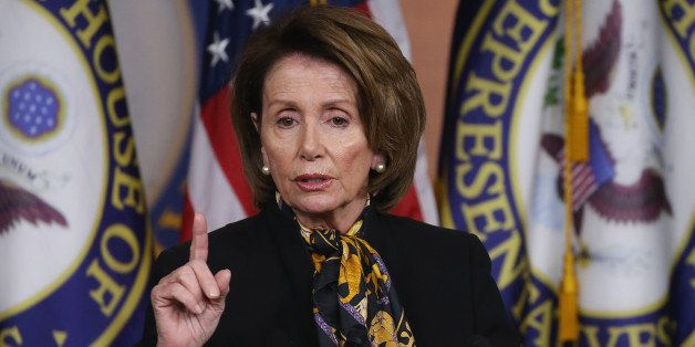 WASHINGTON, DC - MAY 21:  House Minority Leader Nancy Pelosi (D-CA) speaks to the media on Capitol Hill May 21, 2015 in Washi