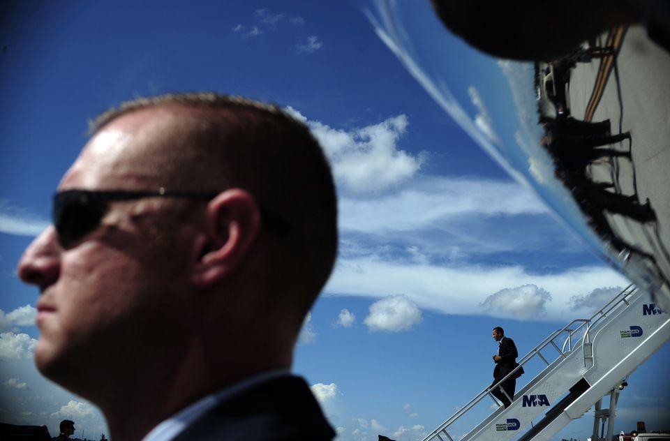 La seguridad, logística en torno al arribo del Air Force One (AF1) comienza desde horas antes.