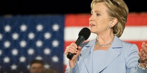 Hillary Clinton Speaks at a Presidential Primary Rally in Raleigh, NC in 2008