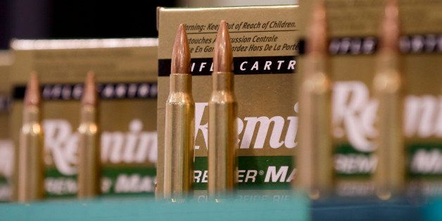 Remington rifle cartridges are displayed at the 35th annual SHOT Show, Tuesday, Jan. 15, 2013, in Las Vegas. The National Sho
