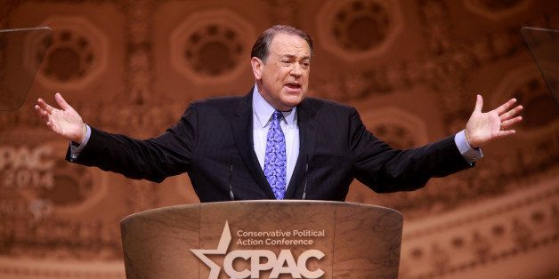 Former Governor Mike Huckabee of Arkansas speaking at the 2014 Conservative Political Action Conference (CPAC) in National Ha