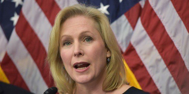 Kirsten Gillibrand, D-NY, speaks during a press conference to announce a new medical marijuana bill at the US Capitol on Marc