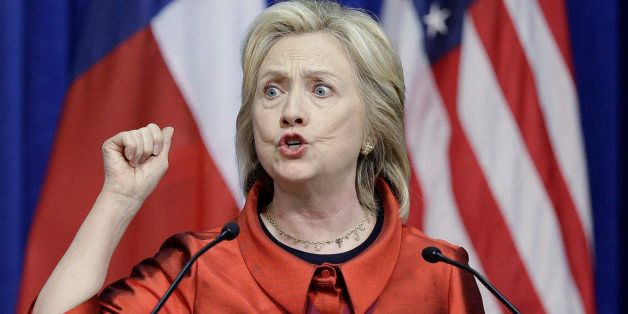 Democratic presidential candidate Hillary Rodham Clinton delivers a speech at Texas Southern University in Houston, Thursday,