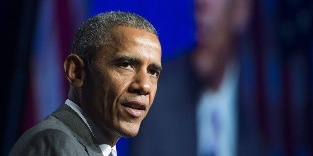 US President Barack Obama speaks about healthcare reforms and the Affordable Care Act, known as Obamacare, during the Catholi