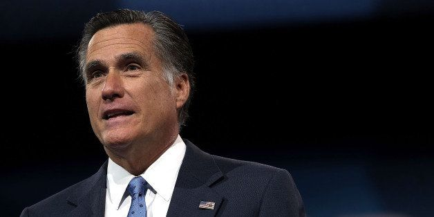 NATIONAL HARBOR, MD - MARCH 15:  Former Republican presidential candidate and former Massachusetts Governor Mitt Romney deliv