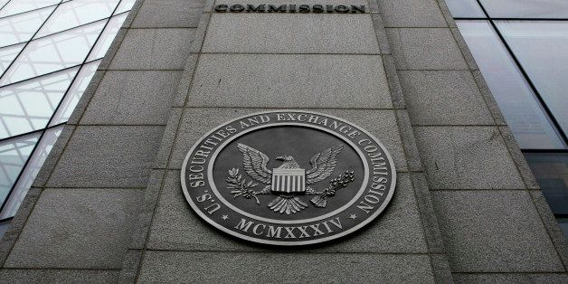 FILE- This Dec. 17, 2008 file photo shows the exterior of the Securities and Exchange Commission (SEC) headquarters in Washin