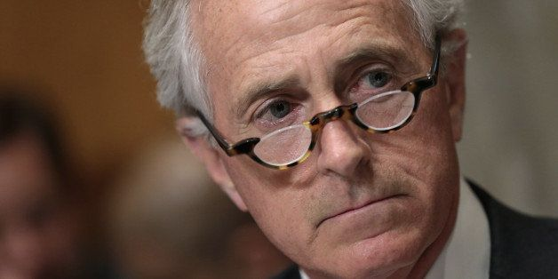 WASHINGTON, DC - APRIL 14:  Senate Foreign Relations Committee Chairman Sen. Bob Corker (R-TN) makes opening remarks during a