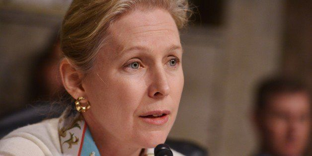 Senator Kirsten Gillibrand, D-NY, speaks during the Senate Armed Services Committee on the nomination of Ashton Carter to be