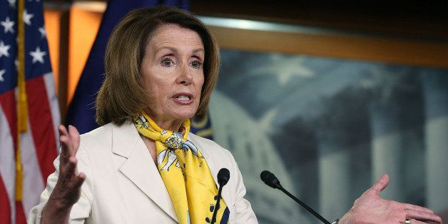 WASHINGTON, DC - JUNE 18:  House Minority Leader Nancy Pelosi (D-CA) speaks to the media during her weekly news conference on
