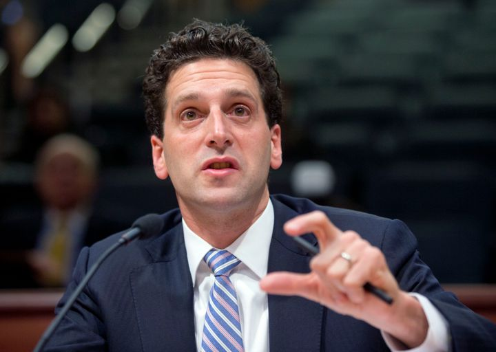Benjamin Lawsky, superintendent of the New York State Department of Financial Services, speaks during a Senate hearing on Thu