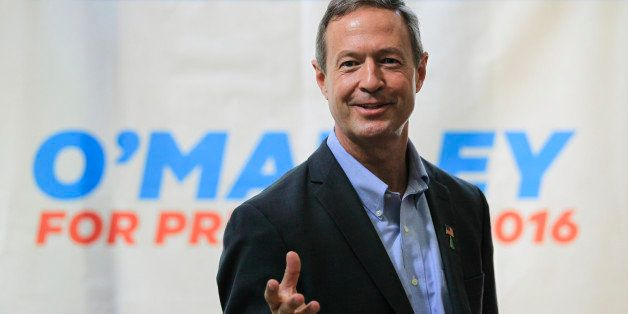 Democratic presidential hopeful former Maryland Gov. Martin O'Malley in New Castle, N.H.,  Saturday, June 13, 2015. (AP Photo