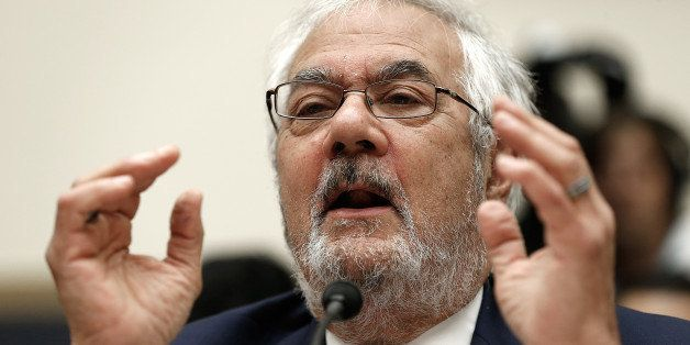 WASHINGTON, DC - JULY 23:  Former House Financial Services Committee chairman Barney Frank (D-MA) testifies before the House