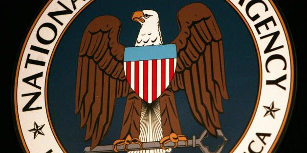 Fort Meade, UNITED STATES:  (FILES): Thyis 25 January 2006 file photo shows the logo of the National Security Agency (NSA) at