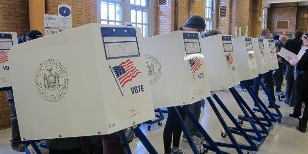 """The new """"voting booths"""" where you fill out your scantron sheet. Not very private, and not nearly as cool as the old"""