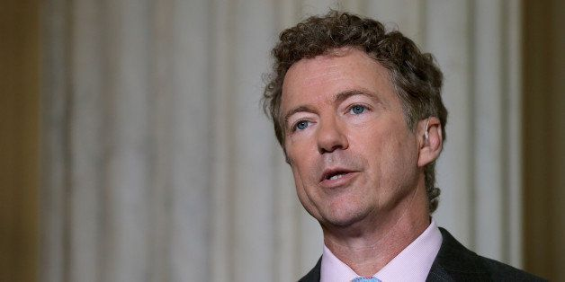 WASHINGTON, DC - JUNE 01:  U.S. Sen. Rand Paul (R-KY) does a live interview with FOX News in the Russell Senate Office Buildi