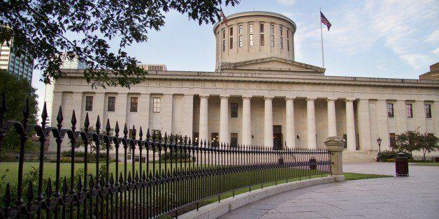 The Ohio statehouse Capitol building in Columbus, Ohio.