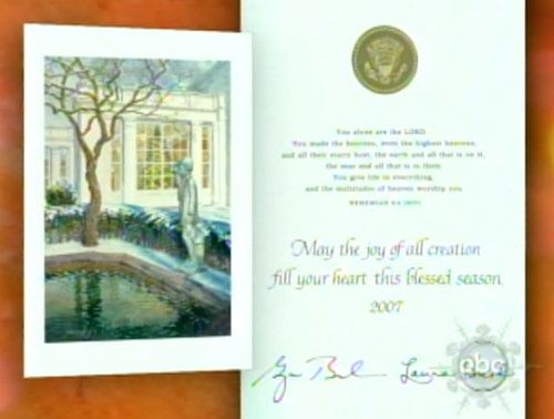 the white houses super christian christmas card