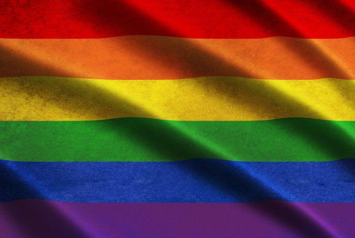 illustration of a rainbow flag...