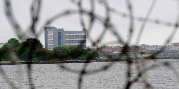 A view of buildings at the Rikers Island penitentiary complex where IMF head Dominique Strauss-Kahn is being held in New York