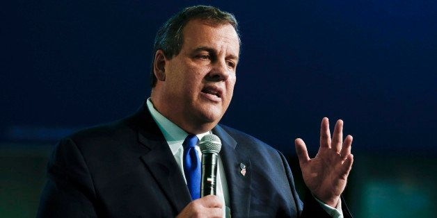 LIVINGSTON TWP., NJ - JUNE 30:   New Jersey Gov. Chris Christie announces his candidacy for the Republican presidential nomin