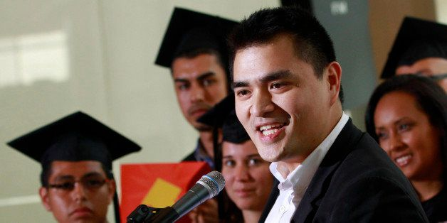 FILE - In this June 20, 2012, file photo former Washington Post journalist turned immigration reform activist, Jose Antonio V