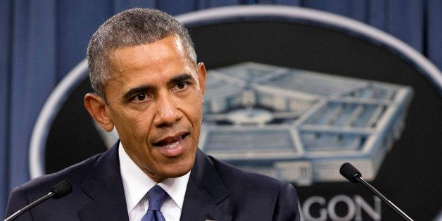 President Barack Obama speaks to the media after receiving an update from military leaders on the campaign against the Islami