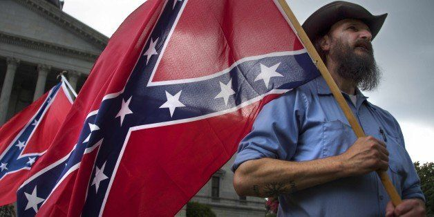 Pro-confederate flag demonstrator Jim Horky stands outside the South Carolina State House in Columbia, South Carolina, June 2