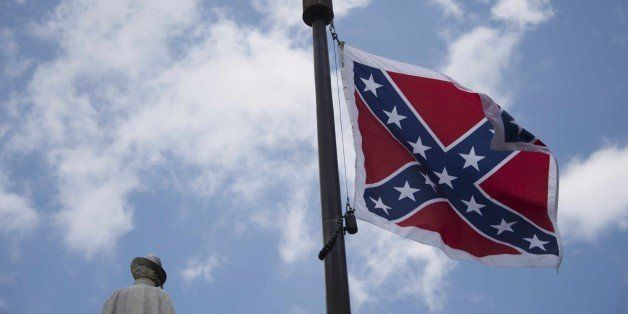 The confederate flag flies on the grounds of the South Carolina State House in Columbia, South Carolina, June 27, 2015. There