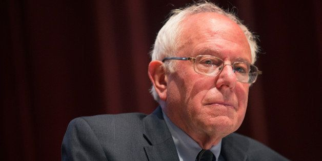 DES MOINES, IA - JUNE 12:  Democratic Presidential Nominee Senator Bernie Sanders (D-VT) speaks at a campaign event at Drake