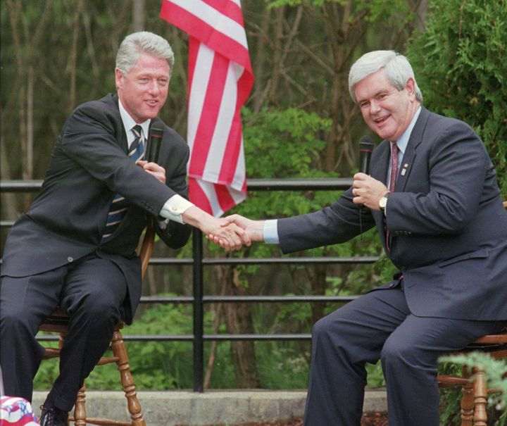 Bill Clinton & Newt Gingrich Shared Secrets About Their Affairs, Says Dick  Armey | HuffPost