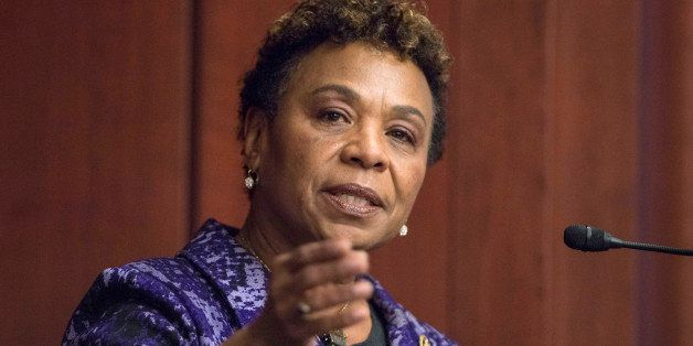 WASHINGTON, DC - MARCH 24: Congresswoman Barbara Lee speaks during the 2015 amfAR Capitol Hill Conference at U.S. Capitol Vis