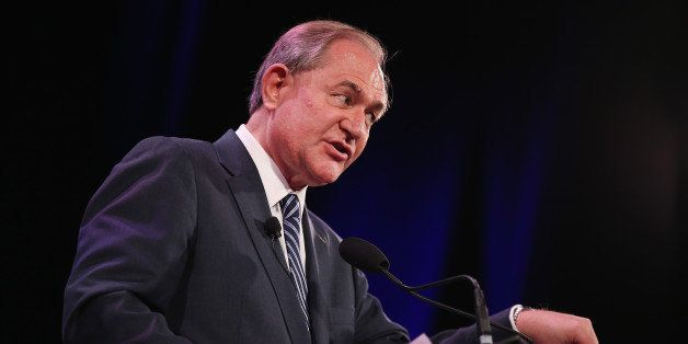 DES MOINES, IA - JANUARY 24:  Former Virginia Gov. Jim Gilmore speaks to guests at the Iowa Freedom Summit on January 24, 201