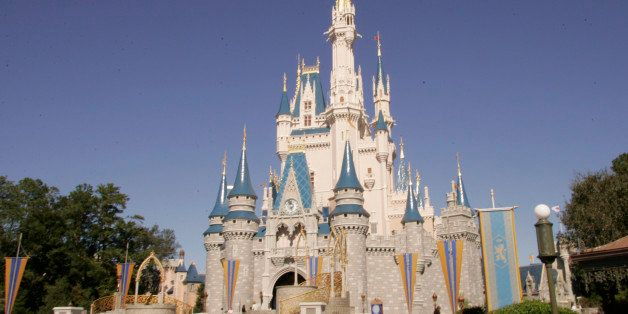 Cinderella's Castle at Walt Disney World's Magic Kingdom in Lake Buena Vista, Fla. is seen on Friday, Jan. 26,2006.  A night'